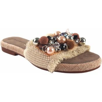 Sapatos Mulher Chinelos Olivina Sandália de senhora BEBY 19059 bege Branco