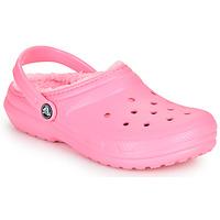 Sapatos Criança Tamancos Crocs CLASSIC LINED CLOG K Rosa