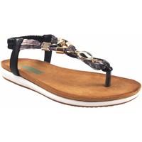 Sapatos Mulher Sandálias Amarpies senhora  19043 ako black Preto