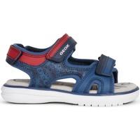 Sapatos Rapaz Sapatos aquáticos Geox - Sandalo blu/rosso J15DRB-C4244 BLU-ROSSO