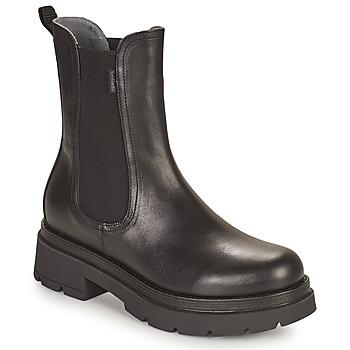 Sapatos Mulher Botas baixas NeroGiardini CROSNO Preto
