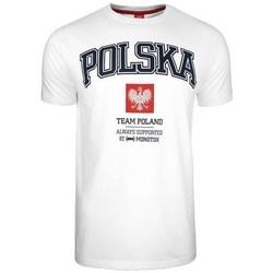 Textil Homem T-Shirt mangas curtas Monotox Polska College Branco