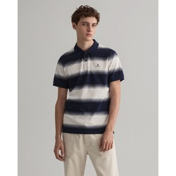 Textil Homem Polos mangas curta Gant Polo piqué Gradiente Azul