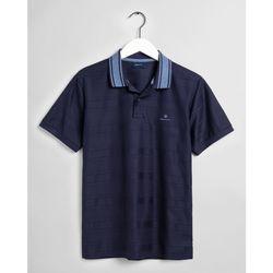 Textil Homem Polos mangas curta Gant Polo Textura Stripe Azul