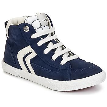 Sapatos Rapaz Sapatilhas de cano-alto Geox KIWI BOY Marinho