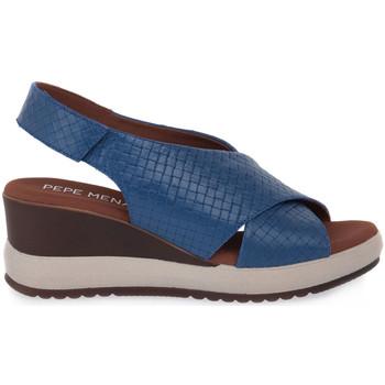 Sapatos Mulher Sandálias Pepe Menargues JEANS VACUNO Blu