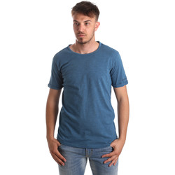 Textil Homem T-shirts e Pólos Gaudi 911BU64027 Azul