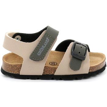 Sapatos Criança Sandálias Grunland SB0231 Bege