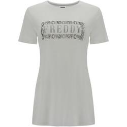 Textil Mulher T-Shirt mangas curtas Freddy S1WALT2 Branco