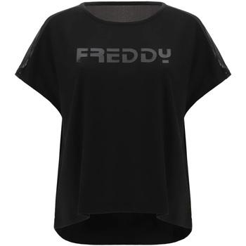 Textil Mulher T-Shirt mangas curtas Freddy S1WTBT3 Preto