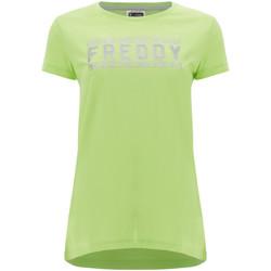 Textil Mulher T-Shirt mangas curtas Freddy S1WCLT2 Verde