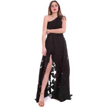 Textil Mulher Vestidos compridos Federica Tosi FTE20AB070.0CH0013 Preto