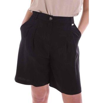 Textil Mulher Shorts / Bermudas Café Noir JP6030 Preto