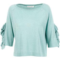 Textil Mulher camisolas Café Noir JM6220 Verde