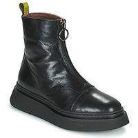 Sapatos Mulher Botas baixas Mjus BASE ZIP Preto