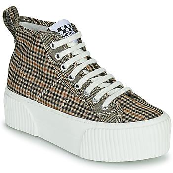 Sapatos Mulher Sapatilhas de cano-alto No Name IRON MID Castanho