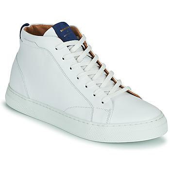 Sapatos Homem Sapatilhas de cano-alto Schmoove SPARK MID Branco
