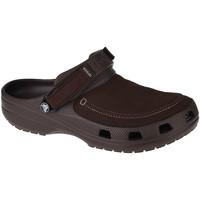 Sapatos Homem Tamancos Crocs Classic Yukon Vista II Clog Marron