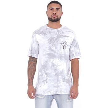 Textil Homem T-Shirt mangas curtas Sixth June T-shirt  Custom Tie Dye blanc/rose