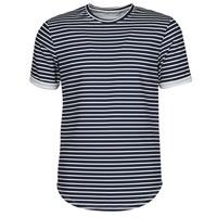 Textil Homem T-Shirt mangas curtas Yurban ORICO Marinho / Branco
