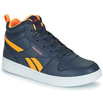 Sapatos Criança Sapatilhas de cano-alto Reebok Classic REEBOK ROYAL PRIME Marinho / Laranja