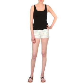 Textil Mulher Shorts / Bermudas School Rag SELENA FLOWERS Branco / Estampado / Florido