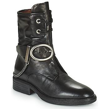 Sapatos Mulher Botas baixas Airstep / A.S.98 FLOWER BUCKLE Preto