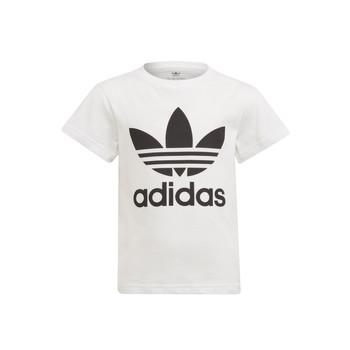 Textil Criança T-Shirt mangas curtas adidas Originals FLORE Branco