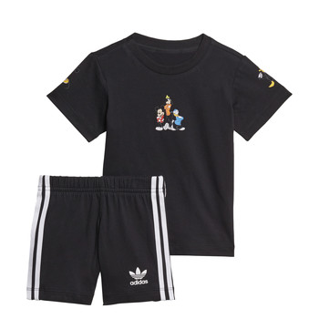 Textil Rapaz Conjunto adidas Originals COTES Preto