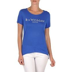 Textil Mulher T-Shirt mangas curtas School Rag TEMMY WOMAN Azul