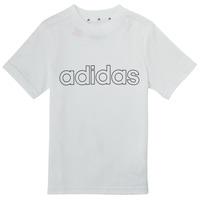 Textil Rapaz T-Shirt mangas curtas adidas Performance ALBA Branco