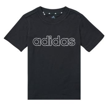 Textil Rapaz T-Shirt mangas curtas adidas Performance SAMINA Preto