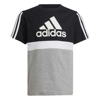 Textil Rapaz T-Shirt mangas curtas adidas Performance MOULITA Cinza / Preto