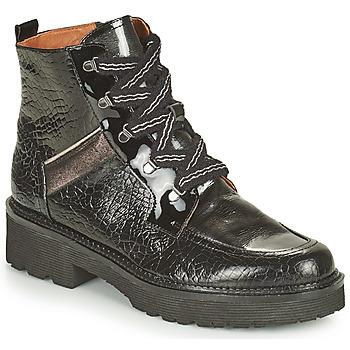 Sapatos Mulher Botas baixas Mam'Zelle ROLL Preto