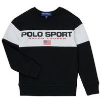 Textil Rapaz Sweats Polo Ralph Lauren SIMEON Preto