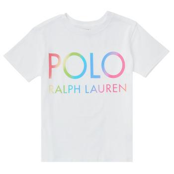 Textil Rapariga T-Shirt mangas curtas Polo Ralph Lauren FERILO Branco