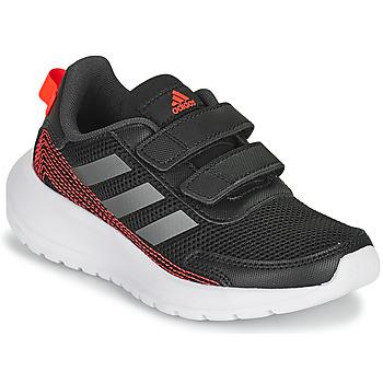 Sapatos Rapaz Sapatilhas de corrida adidas Performance TENSAUR RUN C Preto / Vermelho
