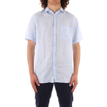 Textil Homem Camisas mangas curtas Trussardi 52C00213 1T002248 Azul