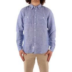 Textil Homem Camisas mangas comprida Blauer 21SBLUS01221 Azul