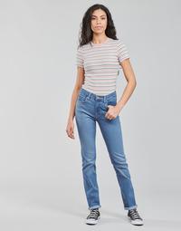 Textil Mulher Calças Jeans Levi's 724 HIGH RISE STRAIGHT Azul