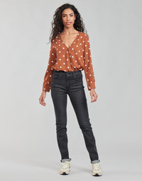 Textil Mulher Calças Jeans Levi's 725 HIGH RISE STRAIGHT Preto