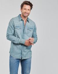 Textil Homem Camisas mangas comprida Levi's BARSTOW WESTERN STANDARD Azul