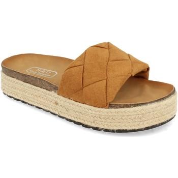 Sapatos Mulher Chinelos H&d YT32 Camel