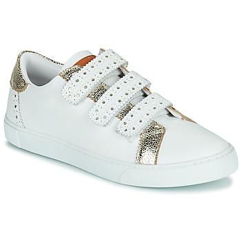Sapatos Mulher Sapatilhas Les Tropéziennes par M Belarbi SUZETTE Branco / Ouro