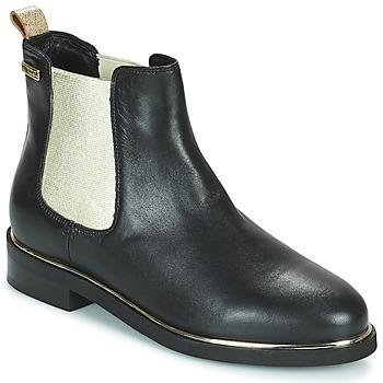 Sapatos Mulher Botas baixas Les Tropéziennes par M Belarbi MICKY Preto / Ouro