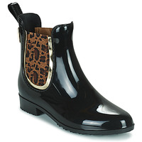 Sapatos Mulher Botas de borracha Les Tropéziennes par M Belarbi RAINBOO Preto / Leopardo