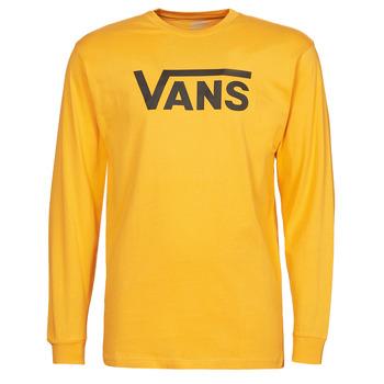 Textil Homem T-shirt mangas compridas Vans VANS CLASSIC LS Amarelo / Preto
