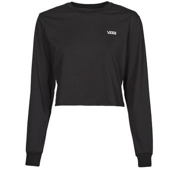 Textil Mulher T-shirt mangas compridas Vans JUNIOR V LS CROP Preto