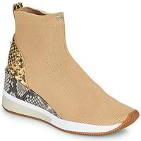 Sapatos Mulher Sapatilhas de cano-alto MICHAEL Michael Kors SKYLER Camel
