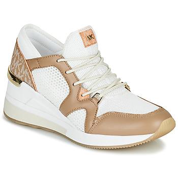 Sapatos Mulher Sapatilhas MICHAEL Michael Kors LIV Camel / Branco